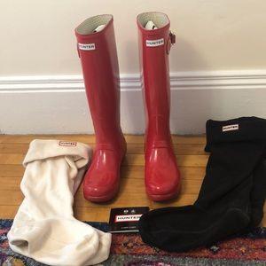 Glossy Red Tall Original Hunter Rain Boots
